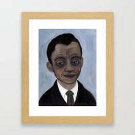 James Baldwin Literary Portrait Framed Art Print