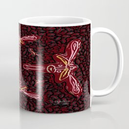 "jjhelene's ""Wild Dragonfly"" Cutout Cookie Design Coffee Mug"