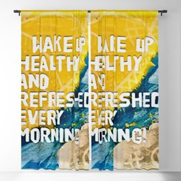 A Morning Affirmation or Mantra Blackout Curtain