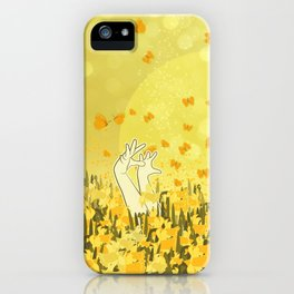 Yellow Effervescence iPhone Case