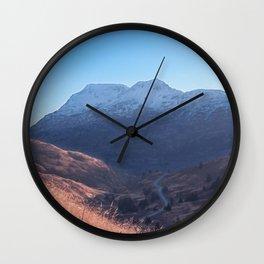 Fall in Alaska Photography Print Wall Clock