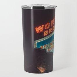 Wonder Neon Sign - Memphis Photo Print Travel Mug