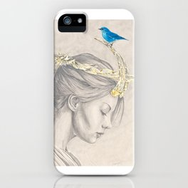 Glimmering gold crown iPhone Case