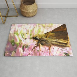 Watercolor Butterfly, Sachem Skipper Butterfly 02, Middletown, Maryland Rug