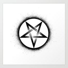 Inverted Pentagram Art Print