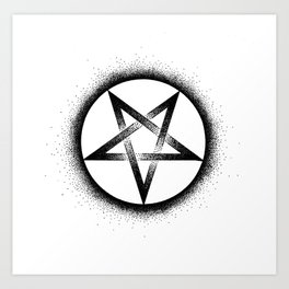 Inverted Pentagram Art Print