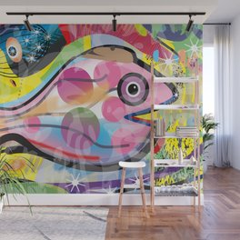 Fish Panting for a Drink with Hemingway in Havana Wall Mural