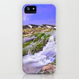 River San Juan. Waterfall At Sunset iPhone Case