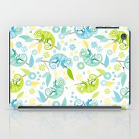 chameleon iPad Cases featuring Chameleon by Heleen van Buul