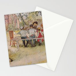 Breakfast under the big birch, 1896 by Carl Larsson Stationery Cards