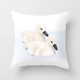 Cygnets Throw Pillow
