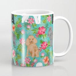Toy Poodle dog breed pet portraits floral flowers dog pattern custom dog lover art Coffee Mug
