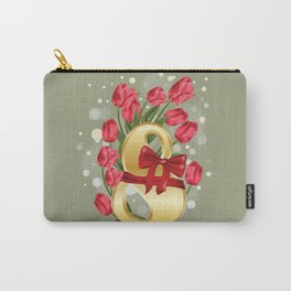 Goln eight with tulips Carry-All Pouch