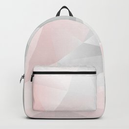 pink and gray geometric low poly background Backpack