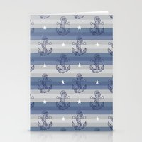 anchors Stationery Cards featuring Anchors by Vickn