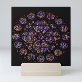 Stained Glass Rose Window 1 Mini Art Print