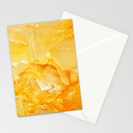 Yellow onyx marble Stationery Cards