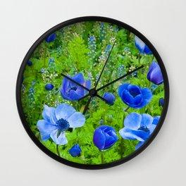 Spring Blues Wall Clock