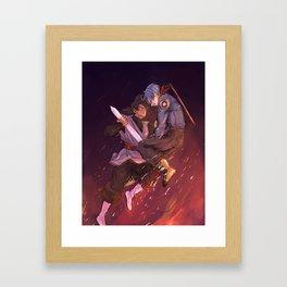 Black Goku vs Trunks Framed Art Print
