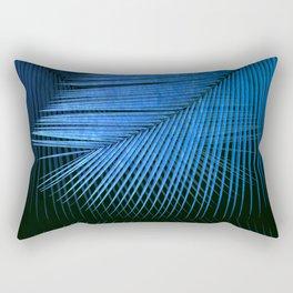 Palm leaf synchronicity - metallic blue Rectangular Pillow