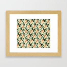 a lot of flowers for art deco green Framed Art Print