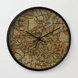 Vintage Limoges France Map (1895) Wall Clock