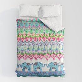 Tiny Circus Elephants Comforters