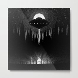 Drawlloween 2014: Alien Metal Print