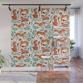 Cheetah Collection – Orange & Green Palette Wall Mural