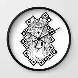 Wolf Head Dress Wall Clock