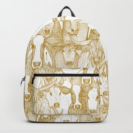 just cattle gold white Backpack