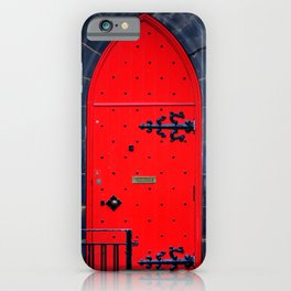 Red Door iPhone Case