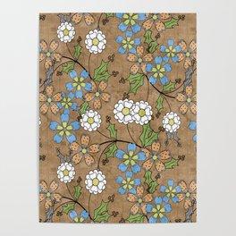 Vintage floral pattern. Poster