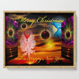 Merry Christmas - Happy New Year  Serving Tray