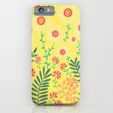 A Yellow Flowery Pattern iPhone 6s Slim Case
