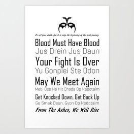 Quotes - The 100 Art Print