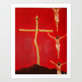 Cross to Bear Art Print