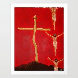 Cross to Bear Art Print