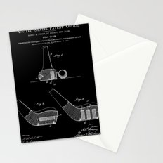 Golf Club Patent - Black Stationery Cards