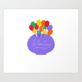 Lollipops (le bonbons) Art Print