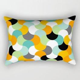 Interlocking shapes pattern Rectangular Pillow
