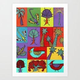 Quilt Blocks Art Print