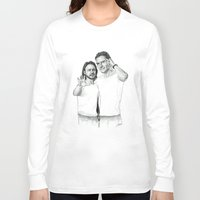 x men Long Sleeve T-shirts featuring X Men  by Cécile Pellerin