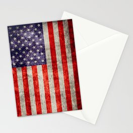 Antique American Flag Stationery Cards