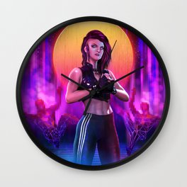Synthwave Wall Clock