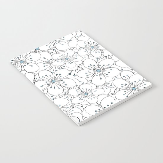 Cherry Blossom Blue - In Memory of Mackenzie Notebook