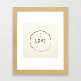 I love You (Water) Framed Art Print