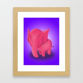 Elephant Framed Art Print