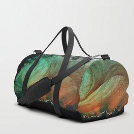 Sunset stormy skies Duffle Bag