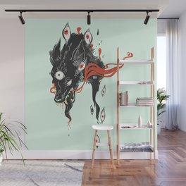 Magical Wolf Third Eye Art Wall Mural